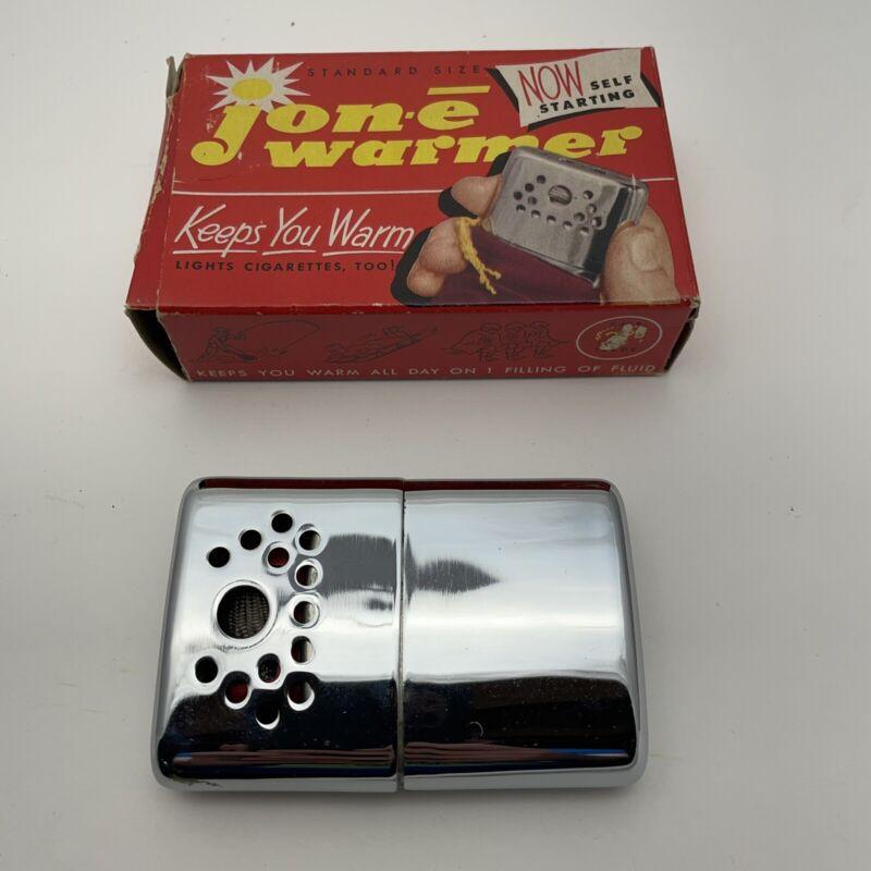 VINTAGE JON E Standard Size Hand-warmer With Box Handwarmer
