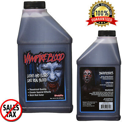 16Oz Stage Fake Blood Horror Makeup Vampire Venous Arterial Halloween Prop Party