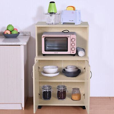 Mueble Auxiliar para Microondas Aparador Auxiliar Bajo de Cocina 60.4x40.3x97cm