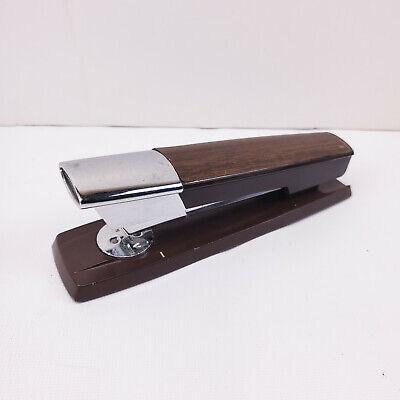 Vintage Swingline Woodgrain Stapler Model 333 Works