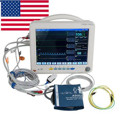 Portable 12-inch Icu Ccu 6-parameter Patient Monitor Vital Sign Cardiac Medical