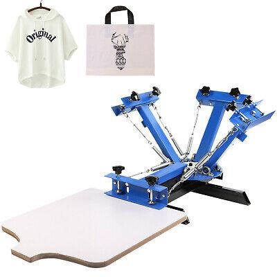 4 Color 1 Station Silk Screen Printing Machine T-shirt Press Equipment Diy Kit