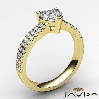 Heart Cut Diamond Engagement Double Prong Ring Certified by GIA F Color VS1 1Ct 8