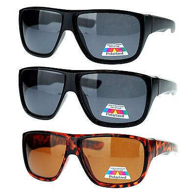 Mens Oversized Rectangular Anti Glare Polarized Sporty Plastic Biker (Oversized Rectangular Sunglasses)