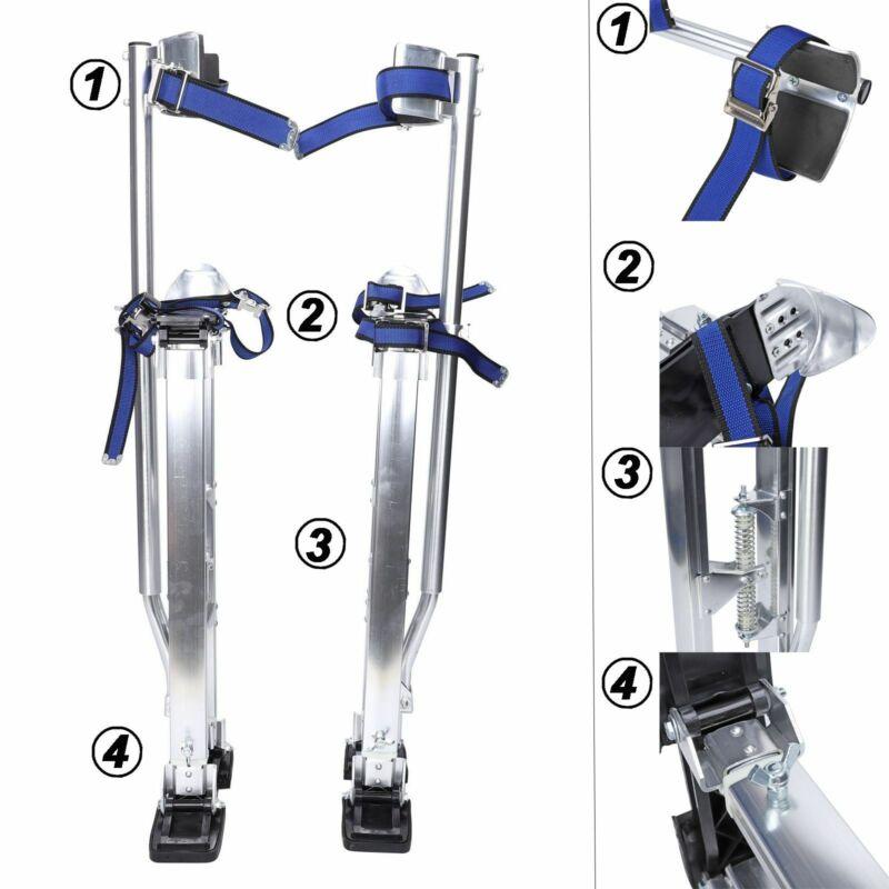 Silver Drywall Stilts Aluminum Tool Stilt 24-40 Inch Portabl For Painter Walking