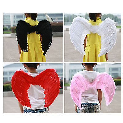 Angel Feather Wings Cosplay Halloween Fancy Dress Costume event for Kids Adults - Angel Costumes For Halloween For Kids