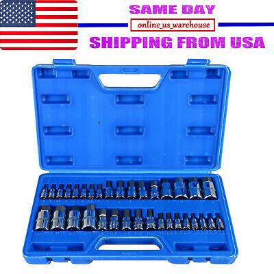 34pc Master Allen Wrench Socket Bit Hex Key For Ratchet Socket Tool Sae Metric