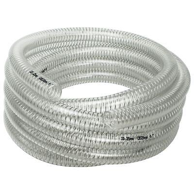 "AWM 1"" 10m Saugschlauch 29/25 Transparent Spiralschlauch Druckschlauch PVC"