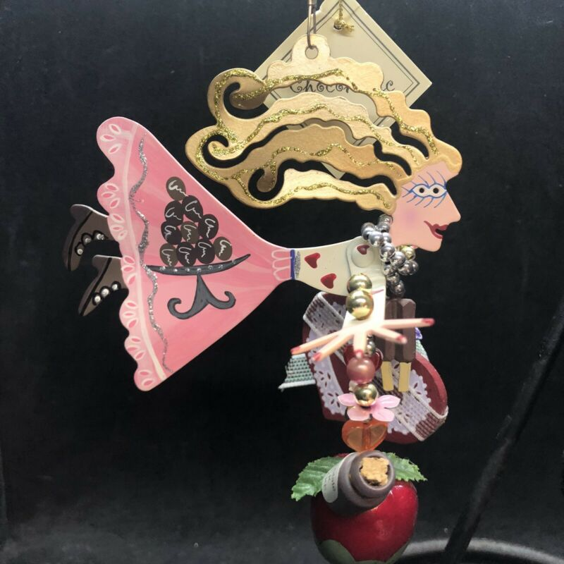 Karen Rossi Chocoholic Ornament Christmas Valentine's Fanciful Flights Silvestri