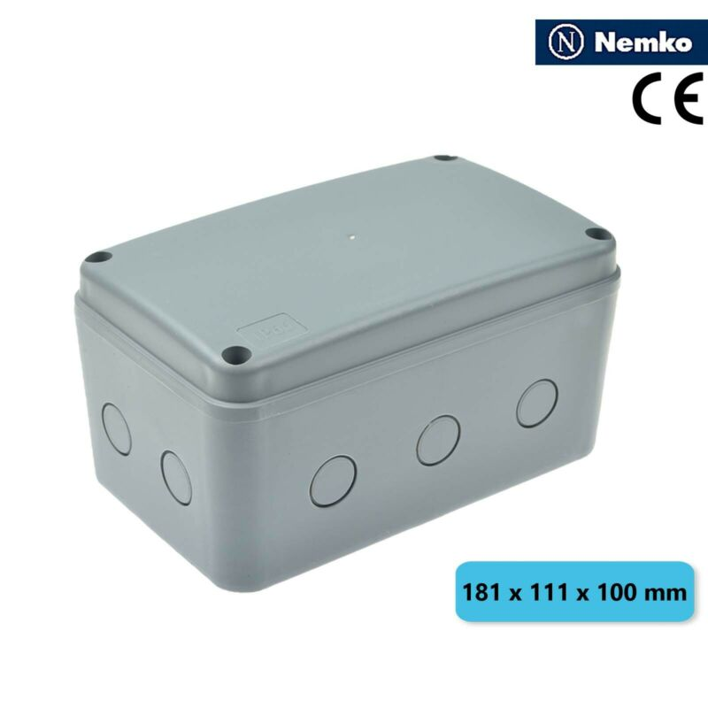 IP66 Waterproof Electrical Junction Box Enclosure Case ABS 181 x 111 x 100mm