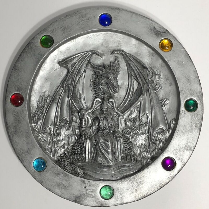 Dragon & Wizard Mana Wall Hanging in 3D Relief Fantasy D&D Style Art High Detail