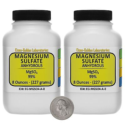 Magnesium Sulfate Anhydrous Mgso4 99 Acs Grade Powder 1 Lb In Two Bottles Usa