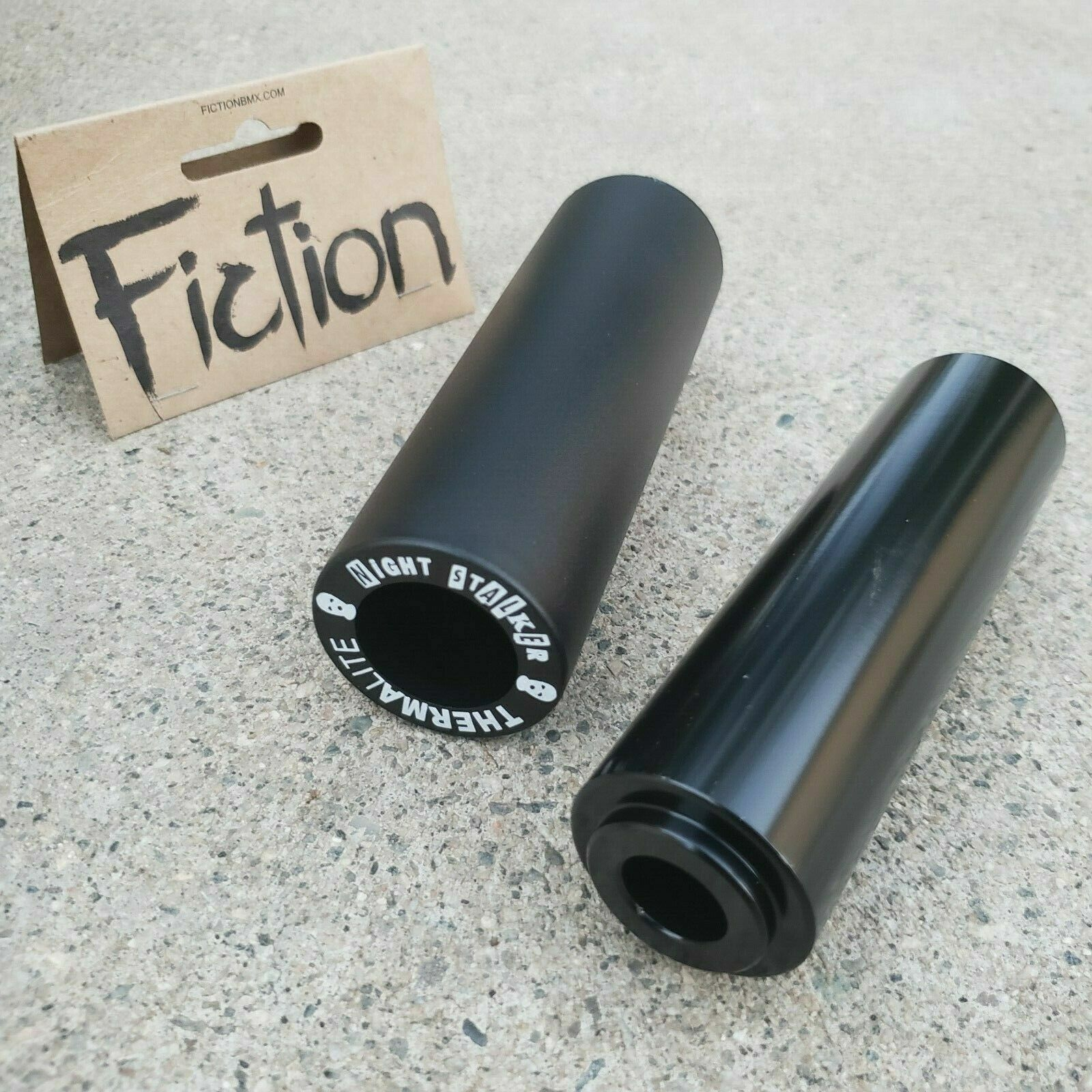 1 PAIR FICTION NIGHT STALKER PC PEG 3/8 14MM BMX BIKE PEGS F