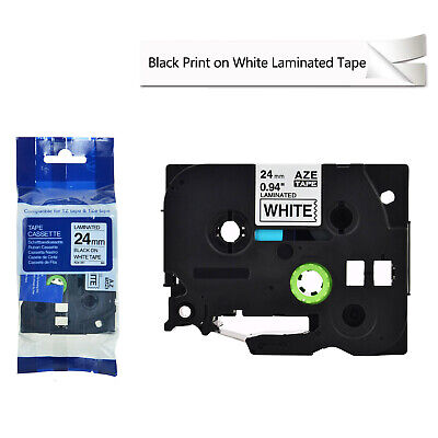 24mm Tz-251 Tze-251 Black On White 1 Label Tape For Brother P-touch Pt-p700