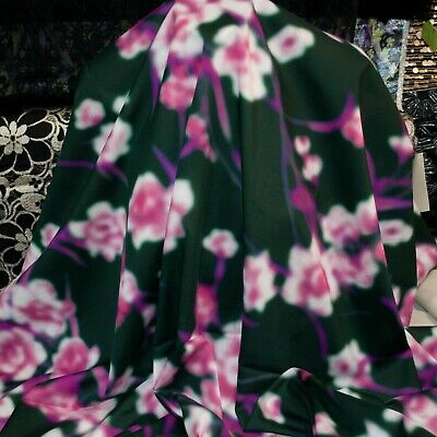 Dries Van Noten authentic cotton fabric. Abstract floral print. Made in Italy
