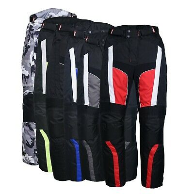 Men's Motorbike Motorcycle Waterproof Cordura Textile Trousers Pants Armours Cordura Motorcycle Pants
