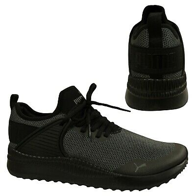 Puma Pacer Next Cage Knit Black Mesh Lace Up Casual Mens Trainers 366663 04 B87D