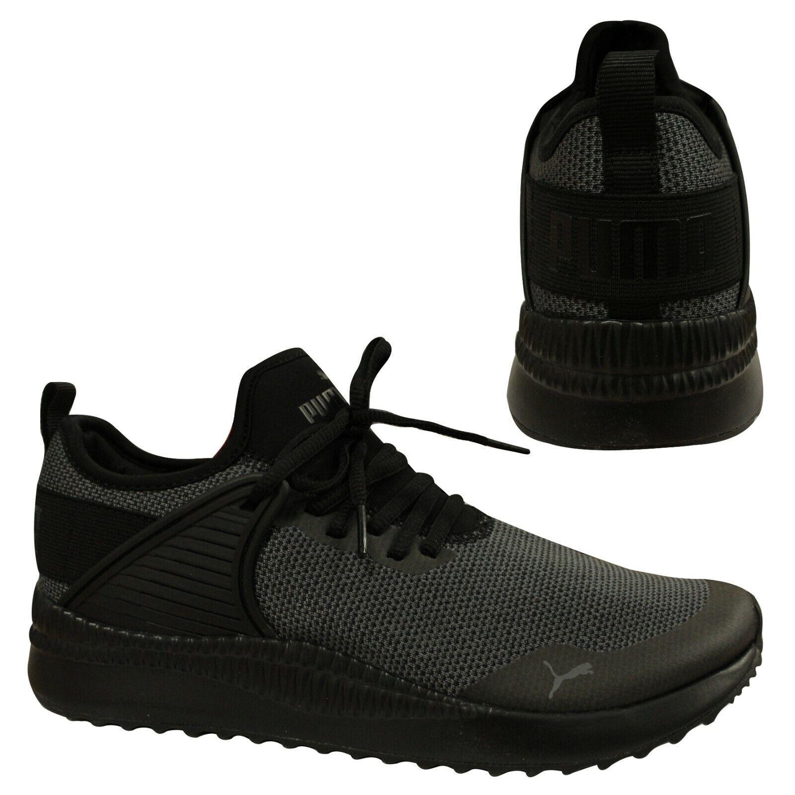 tienda de liquidación baratas para la venta estilo de moda Puma Pacer Next Cage Knit Black Mesh Lace Up Casual Mens Trainers ...