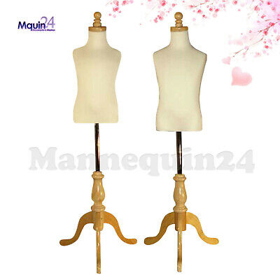 2 Kids Mannequin Set For Size 3-4 Yr 5-6 Yr Wooden Bases - Child Dress Forms
