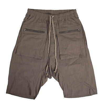 NWT RICK OWENS x DRKSHDW Dust Gray Drawstring Cargo Short Pants Size S $615