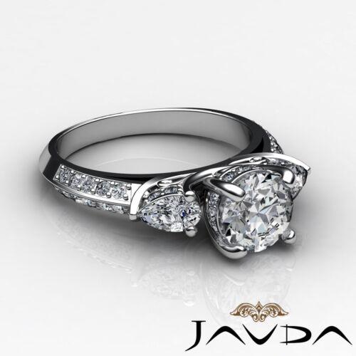 2.21ct Round Diamond Gorgeous Engagement 3 Stone Ring GIA F VVS2 14k White Gold 2