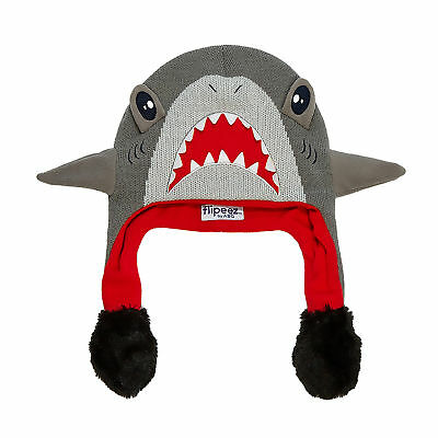 ABG Accessories Little Boys Shark Squeeze and Flap Fun Cold Weather Hat, Age 4-7
