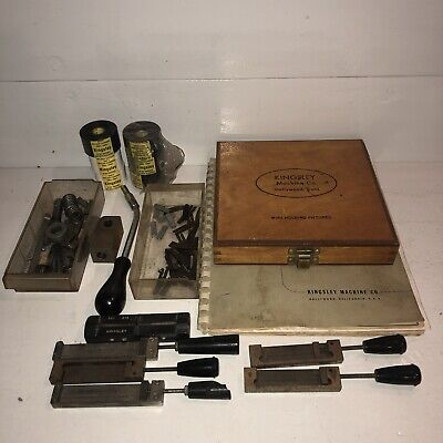 Kingsley Machine Co. Misc Parts Lot Line Type Holders Wire Holding Fixtures Etc
