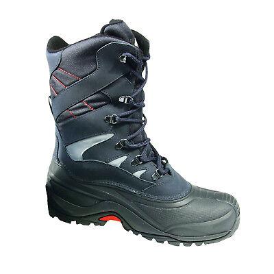 Schwarze Winter-schnee-stiefel (W.K.TEX Winterstiefel Aosta Gr.39/40 bis 47/48 wählbar marine/schwarz)