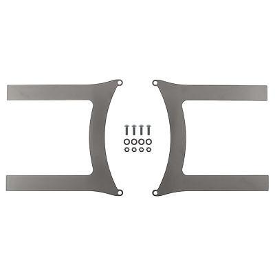 REVOTEC ELECTRIC FAN BRACKET SET PAIR 385MM MILD STEEL - RFB385MS