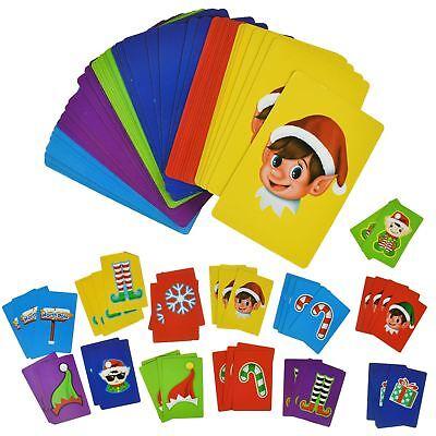 Jumbo Elf Snap Cards Match Playing Cards Xmas Stocking Filler Family Fun Games