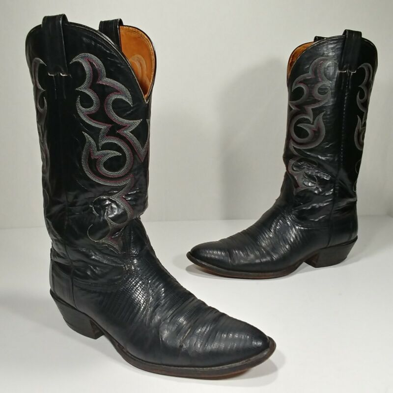 Nocona, Boots, Mens, Lizard, Skin, Stitched, Cowboy, Western, Boots, -, Size, 9, 1/2