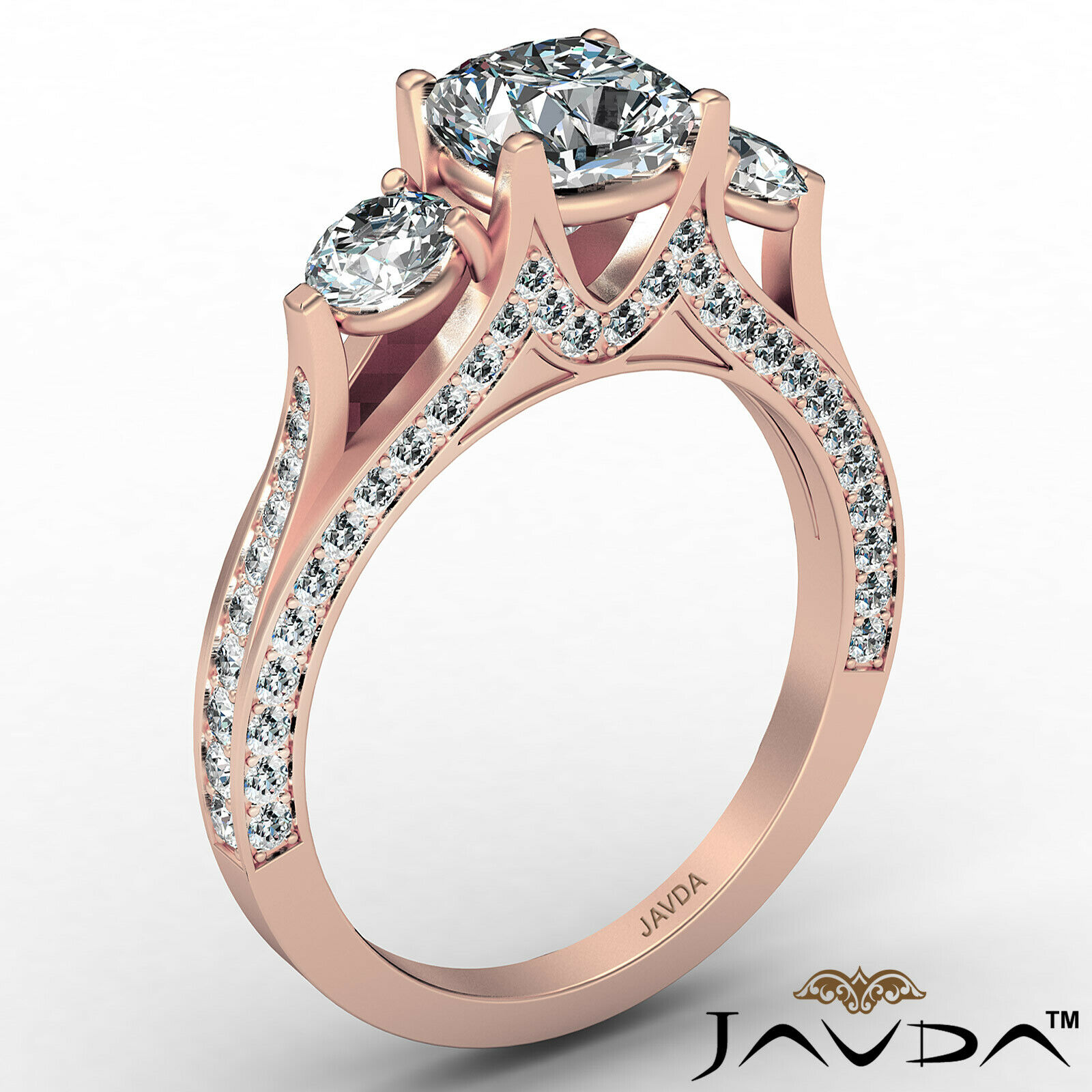 Cushion Diamond Engagement Ring Certified by GIA E Color & VVS1 clarity 2.1 ctw 5