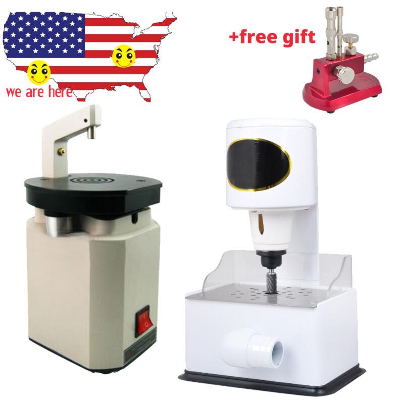 Dental Lab Laser Pindex Drill Pin Driller Machine + Arch Model Trimmer Grinder