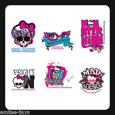 Monster High Party Ideas (Monster High Tattoos x 12 pieces Party Favours Birthday Supplies Fun Loot)