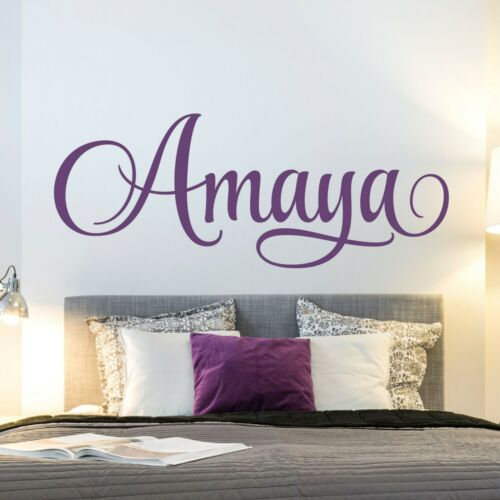 Personalized Girls Name Wall Decal Custom Baby Girl Nursery Wall Decal Sticker
