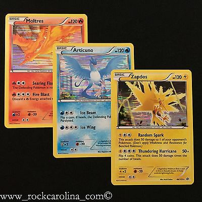 Articuno Moltres Zapdos LEGENDARY BIRD HOLO SET NM/M Legendary Treasures Pokemon