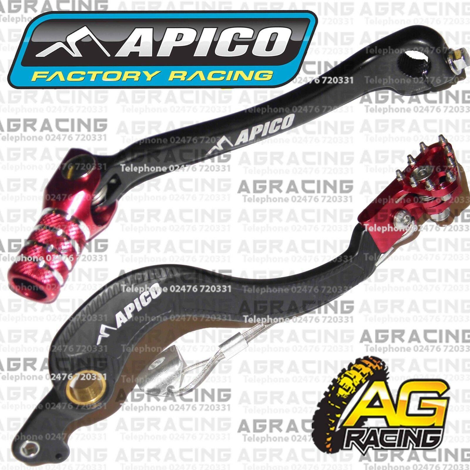 APICO FORGED BRAKE LEVER FITS KTM FREERIDE 250 350 2014-2018 BLACK