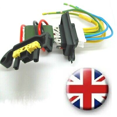 Repair kit Renault Megane II Heater Blower Fan Resistor PLUS Wiring Loom Harness