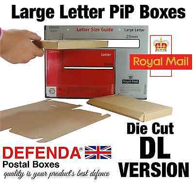 60 x 0427 STYLE DIE CUT DL SIZE Royal Mail Large Letter PIP POSTAL BOXES Mailers