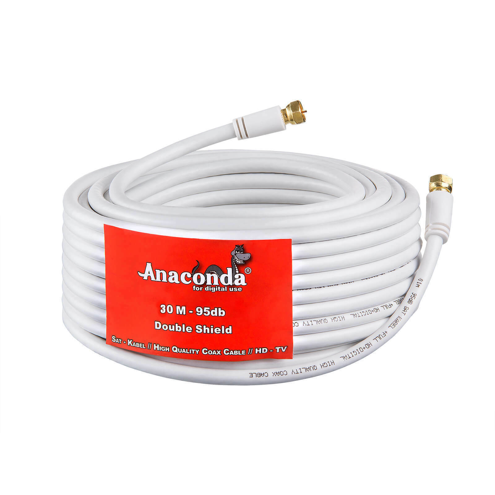 30m SAT HD DIGITAL KABEL Antennenkabel Koaxialkabel Full HDTV 3D HD+ DVB-S2 SKY