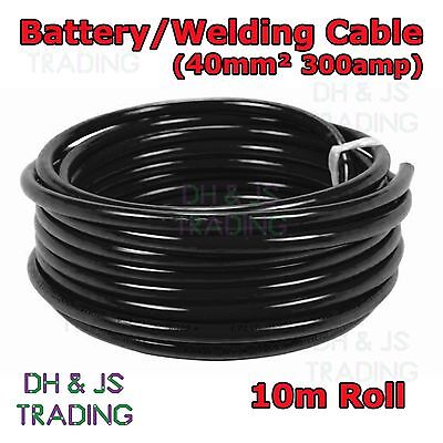 10m Black Battery Welding Cable 40mm² 300a  Flexible Marine Boat Automotive Wire
