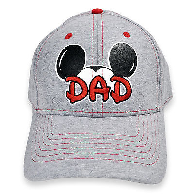 Disney Mickey Mouse Ears DAD Adult Hat Cap Grey Brand New - Mickey Mouse Ears Hat