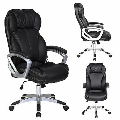 PU Leather Executive Office Chair Tilt Swivel Seat High Back Computer Desk Chair