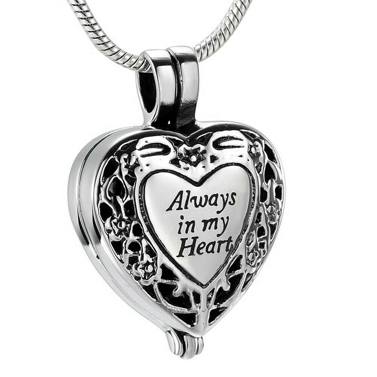 Jewellery - NEW Always in my Heart Locket Urn Necklace Jewelry Cremation Ashes With Tool