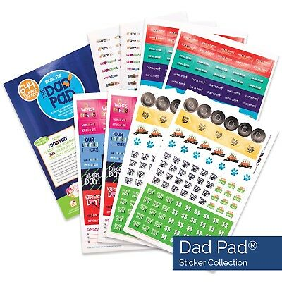 644 Man Planner Stickers - for the Dad Pad® - pack car, rec