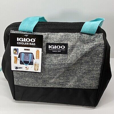 IGLOO Cooler Bag Leftover Tote (9 Can) - Pebble Grey & Black NEW