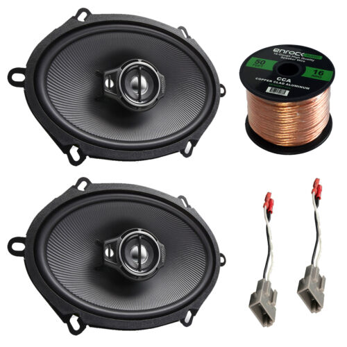 "Kenwood KFCC5795PS 5x7"" 3-Way 320W Speakers, Wiring, FORD 87-UP Speaker Harness"