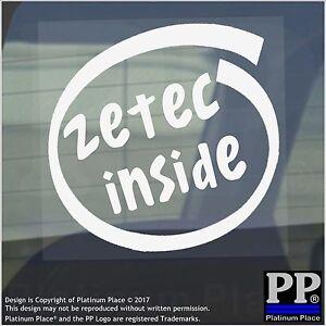 1x Zetec Interior-ventana, Coche, Furgoneta, Calcomanía, signo, vehículo, ZS, S, rápido, Ford, velocidad, ST, RS