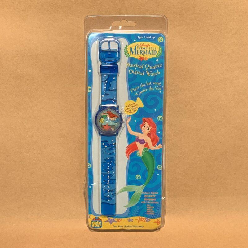 VTG 1988 Disney Little Mermaid Musical Floating Digital Watch Dome Bubble Face