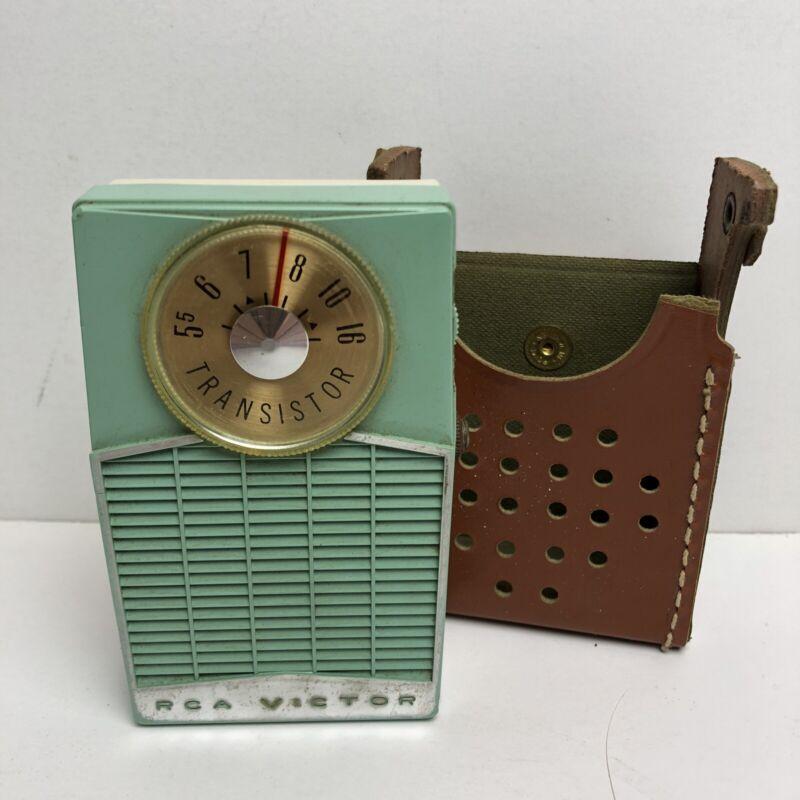 Rare RCA Victor Blue Personal Portable Pocket Transistor Radio 1-TP-1HE Vintage